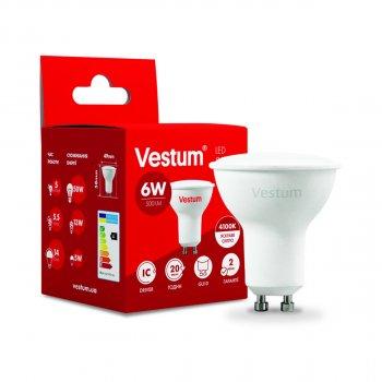Світлодіодна лампа Vestum LED MR16 6W 4100K 220V GU10 (149112)