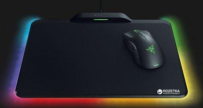 Миша Razer Mamba HyperFlux + ігрова поверхня Razer Firefly HyperFlux Bundle USB Black (RZ83-02480100-B3M1)
