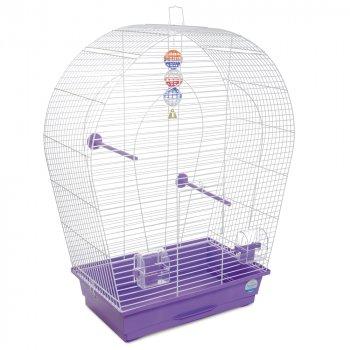 Клетка для птиц Природа Арка Большая 57 x 72 x 28 см Белая/фиолетовая (4823082415069)