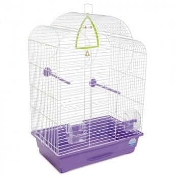 Клетка для птиц Природа Воля 45 x 65 x 28 см Белая/фиолетовая (4823082415021)