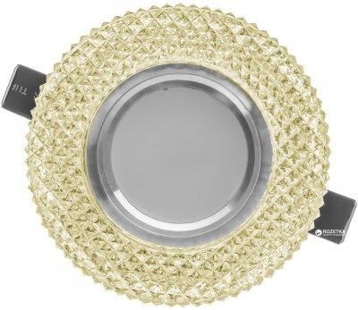 Світильник точковий з підсвіткою Brille HDL-G266/8W + 3W LED WH (36-179)