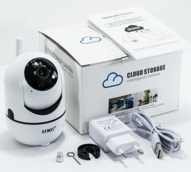 Поворотная WiFi IP камера видеонаблюдения для дома и квартиры UKC CAD Y13G Вай Фай видеонаблюдение (1007558-White-1)