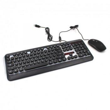 Комплект провідна ігрова клавіатура з LED підсвічуванням і мишка HK3970 (чорний)