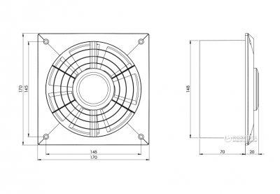 Вытяжной вентилятор Europlast L150