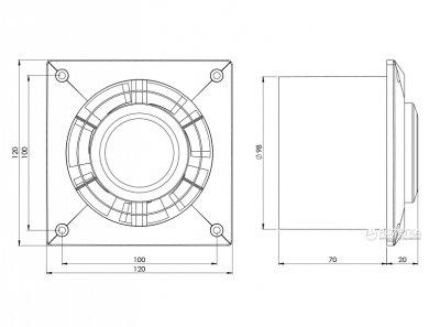Витяжний вентилятор Europlast L100