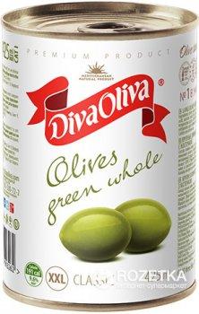 Оливки Diva Oliva Зеленые крупные с косточками 425 мл (5060162903262)