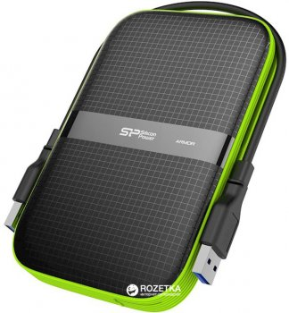 "Жорсткий диск Silicon Power Armor A60 5TB SP050TBPHDA60S3K 2.5"" USB 3.1 External Black"