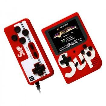 Портативная игровая ретро приставка SUP Game Box + джойсик 400 игр Dendy 8bit SUP Game Box Red (SUP401)