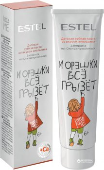Детская зубная паста Estel Little Me со вкусом апельсина 50 мл (4606453050317)