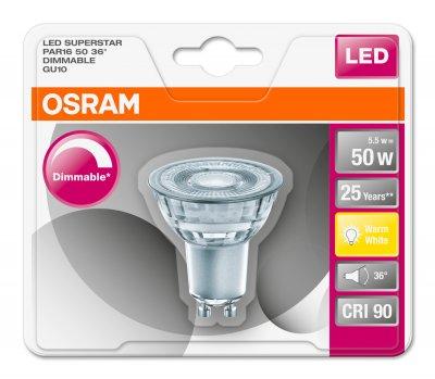 Світлодіодна лампа Osram LED Superstar PAR16 DIM 50 5.5W 2700K GU10 (4052899390171)
