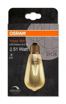Світлодіодна лампа Osram LED 1906 Edison DIM 6.5W (650Lm) 2400K E27 (4052899972360)