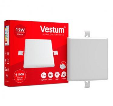 Світильник LED врізний без рамки квадратний Vestum 12W 4100K 220V (1-VS-5603)