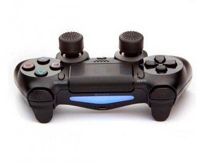 Силиконовые накладки на аналоговые стики Game Teh X для джойстика PS4 черный 8 шт