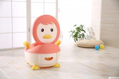 Детский горшок Babyhood Пингвин розовый (BH-113P) (6923149601782)