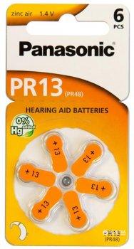 Батарейки Panasonic воздушно-цинковые PR13 (PR48, AC13, DA13, AG5, ZA13) блистер, 6 шт (PR-13/6LB)