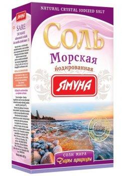 Соль Морская йодированная Ямуна 200 г (4823079101623)