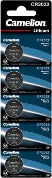 Батарейка Camelion CR 2032 / 5 BL (CR2032 BP5)