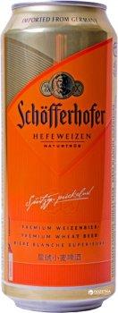 Упаковка пива Schofferhofer Hefeweizen светлое нефильтрованное 5% 0.5 л x 24 шт (4053400177694)