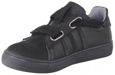 Кроссовки TOPITOP 1185 для мальчиков черные, кожа+нубук.