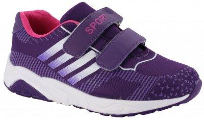 Кросівки Сонце 511 для дівчаток фіолетові, штучна шкіра