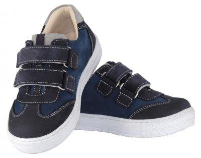 Кроссовки TOPITOP 2501 для мальчиков сине-красные, нубук.