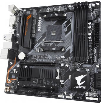 Материнська плата Gigabyte B450 Aorus M (sAM4, AMD B450, PCI-Ex16)