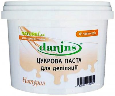 Цукрова паста для депіляції в домашніх умовах Danins Натурал 500 г (4820191092235)