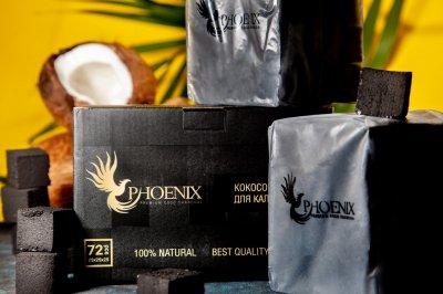 Уголь для кальянов кокосовый Phoenix 0.5 кг