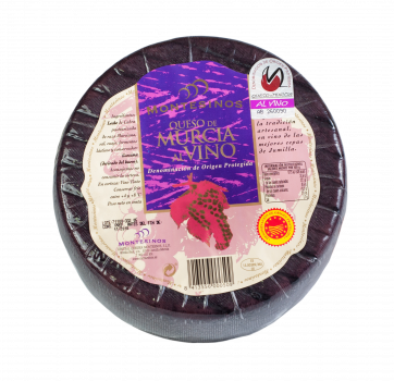 Сир Montesinos козячий витриманий в червоному вині Мурсія DOP 350 г