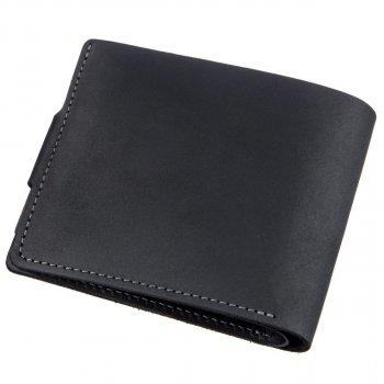 Кожаный мужской кошелек Grande Pelle leather-11228 Черный