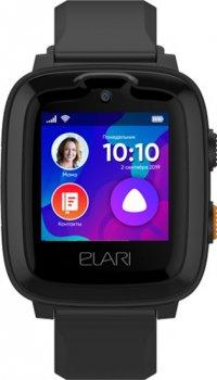 Дитячий смарт-годинник з GPS-трекером Elari KidPhone 4G Black (KP-4GB)