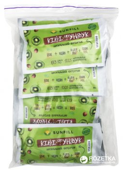 Упаковка батончиков Sunfill Киви-Фундук 40 г х 10 шт(4820211260071)