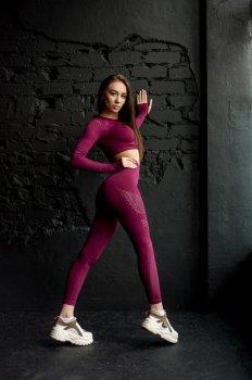Спортивный комплект для фитнеса, йоги и тренировок VLADIFIT Бордовый ART/1072