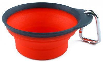 Дорожні складна миска для собак Dexas Collapsible / Expandable Travel Cup - 2 велика 480 мл Червона (dx30667)