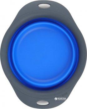 Універсальна складна миска для годування для собак Dexas Collapsible Pet Bowl мала 720 мл Синя (dx30791)