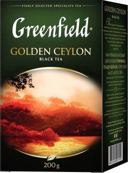 Чай черный Greenfield Golden Ceylon 200 г (4823096801070)