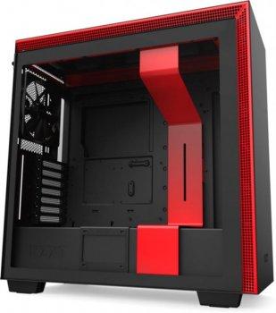Корпус NZXT H710 Matte Black-Red (CA-H710B-BR) без БП