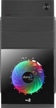 Корпус AEROCOOL Cosmo CS-105 Black Mini Tower + БП VX PLUS 350