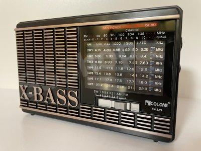 Акумуляторний радіоприймач FM радіо Golon RX-329 Black з ліхтариком (приймає флешки)