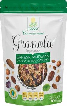 Гранола Терра с орехами, кунжутом и финиками 250 г (4820015735164)