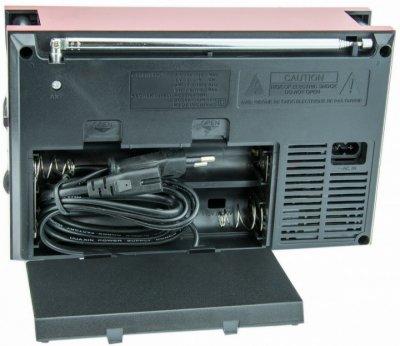 Акустична система Golon акумуляторний FM радіо приймач в ретро стилі з USB виходом під флешку Коричневий (RX-9922)