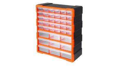 Органайзер Вертикальный(Кассетный)Настенный 475х385х162 мм с Выдвижными Ячейками Для(Мелочей)Метизов 39 ячеек TACTIX 320636