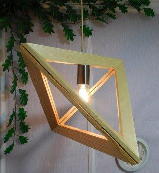 Світильник підвісний TRIANGLE E27 на 1-лампу, світле дерево