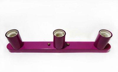Світильник бра настінно-стельовий на 3-лампи BASE-3 E27 бордовий