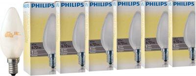 Лампа накаливания Philips Stan 60W E14 230V B35 FR 6 шт (926000007765S)
