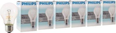 Лампа розжарювання Philips Stan 75 W E27 230 V A55 CL 6 шт. (926000004013S)
