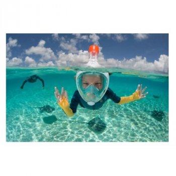 Маска Детская ORIGINAL Subea Easybreath XS (от 4 до 10 лет) для Плавания, Ныряния, Снорклинга Бирюза