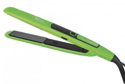 Професійний праску гофре для волосся Tico 100227 Volume Crimper Ceramic 24 мм зелений Тіко,щипці, для обсягу, інструмент для завивки, випрямляч