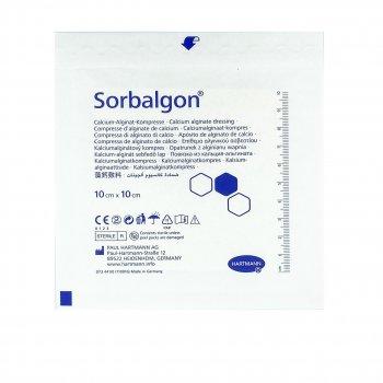 Кальций-альгинатная поглощающая повязкаSorbalgon / Сорбалгон, 10 Х 10 см, 1 шт
