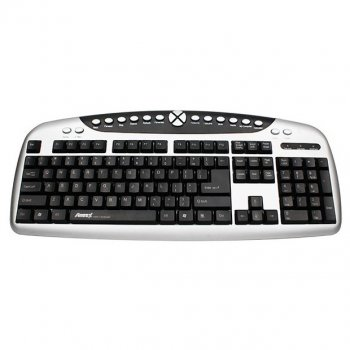 Клавиатура проводная Aneex E-K820 USB Black/Silver